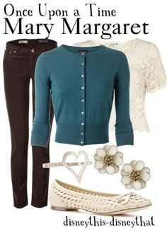 Once Upon a Time - Mary Margaret Blanchard. Seriously, I love a lot of her clothes...
