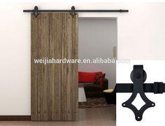 6 FT Black Modern Steel Sliding Barn Door Hardware Rustic Wood Door Closet