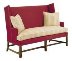 Shop the Farm Wing Settee by Hickory Chair at Furnitureland South, the World's Largest Furniture Store and North Carolina's Premiere Furniture Showroom. Kincaid Furniture, Foyer Furniture, Parks Furniture, Hickory Furniture, Colonial Furniture, Hickory Chair, Living Room Furniture, Furniture Logo, Metal Furniture