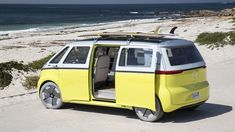 Tech-Infused Vintage Concept Vehicles - Volkswagen I.D Buzz Combines Retro Design with Technology