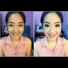 Prewedding makeup, before & after. Bride: Chuei Yin #wedding #bride #makeup