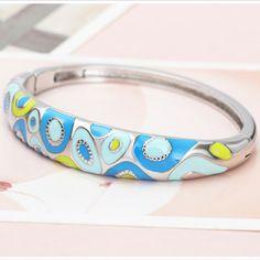 Blue Bracelet  #bluebracelet #enamelbracelet