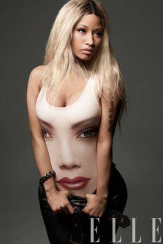 A blonde Nicki Minaj in Jeremy Scott for Adidas