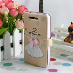 Cute Quality Leather Flip Wallet Case Cover for iphone 4/4S #iPhone #iPhone4 #apple #cases #case #cover #accessories #leather