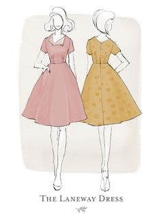 The Pattern of the Month - The Laneway Dress, Part 2.