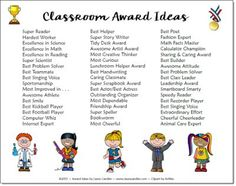 Great list of classroom award ideas and free award certificate templates in this post!