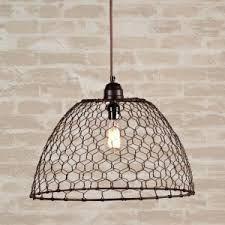 lampadario rete pollaio DIY