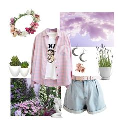 """""""Feed Me Diamonds"""" by daft-punk ❤ liked on Polyvore featuring Potting Shed Creations, Topshop, Pomax, Bobbi Brown Cosmetics, Gabriella, floral, Pink, Flowers and pastel"""