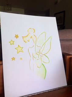 Tinker Bell silhouette outline on Etsy, $20.00