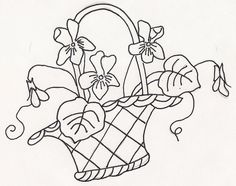 Violets in Basket by jeninemd, via Flickr