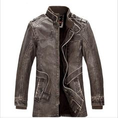 >> Click to Buy << New arrival hot sale brand men's PU leather jackets winter casual Plus cashmere coats Locomotive male jackets slim fit men coat #Affiliate