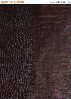 ON SALE Chocolate Brown Reptile Skin Texture Vinyl Upholstery Fabric by ShopPetunias on Etsy