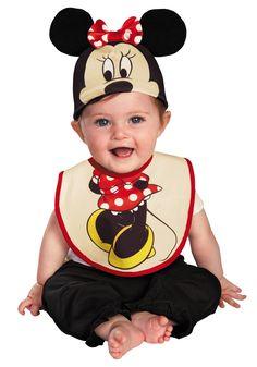 Infant Minnie Mouse Hat and Bib Set