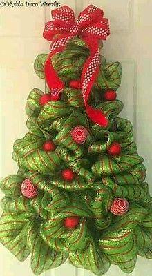 Deco mesh Christmas tree wreath | Home & Garden, Holiday & Seasonal Décor, Christmas & Winter | eBay!
