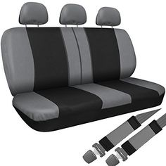 OxGord Cloth Mesh Bench Seat Covers Universal Fit for Car Truck SUV Van Gray -- Check out the image by visiting the link.Note:It is affiliate link to Amazon. #tbt