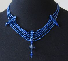Victoriana Necklace.  Large glass bead, glass pearls and Japanese seed beads.