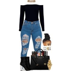 A fashion look from March 2017 featuring Boohoo, MICHAEL Michael Kors handbags and Rolex watches. Browse and shop related looks.
