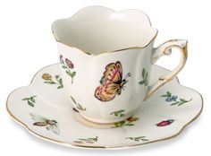 Morning Meadows Cup and Saucer - Set of 4❤ ❤ ❤