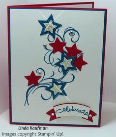 Linda K's Stampin' Page: Patriotic Stampin' Up! Falling Flowers