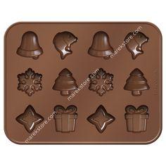 Silikonowa foremka do czekoladek motywy Bożonarodzeniowe - 12 szt | Tescoma | 32,90 zł