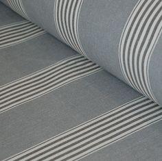 Bowley & Jackson Traditional herrinbone march grey stripe cotton fabric Bowley & Jackson
