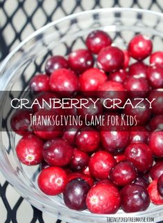 thanksgiving games for kids cranberry crazy - Choose an activity card and do the activity while balancing a cranberry on your spoon  -repinned by @PediaStaff – Please Visit  ht.ly/63sNt for all our pediatric therapy pins