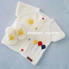 Balonlu yelek Baby Knitting Patterns, Knitting Blogs, Knitting For Kids, Knitting Designs, Knitting Stitches, Knitting Projects, Hand Knitting, Crochet Patterns, Baby Vest