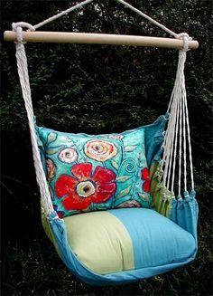Magnolia Casual  4 Pc. Hammock Swing Set http://www.SaffordSportingGoods.com