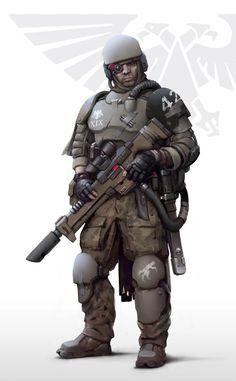 "inoxhammer: ""Imperial army Auxiliary by Igor-Zhovtovsky http://igor-zhovtovsky.deviantart.com/art/Imperial-army-Auxiliary-612643460 My Etsy Shop: https://www.etsy.com/shop/InoxHammer"""