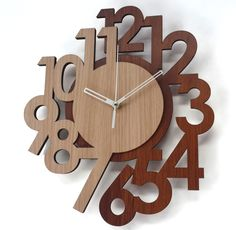 33 Unique Wall Clocks for your Living and Dining Room Clock Art, Diy Clock, Unique Wall Clocks, Wood Clocks, Metal Clock, Modern Clock, Wall Clock Design, Wooden Walls, Wood Crafts