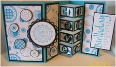 Circles in Turquoise by muscrat - Cards and Paper Crafts at Splitcoaststampers
