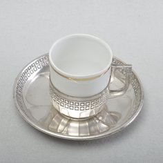 WMF geometric Art nouveau Moccha cup, Espresso Cup, silver plated #Unbranded