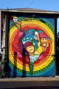 ✯ Urban art series ~ Street Art from Santiago de Chile ✯ Best Street Art, Amazing Street Art, 3d Street Art, Street Artists, Wall Street, Amazing Art, Graffiti Art, Murals Street Art, Street Art Utopia