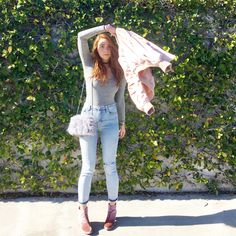 baby pink accents, body suit, how to wear a bodysuit, topshop, madewell, steve madden, booties, velvet booties, the cutest booties this winter