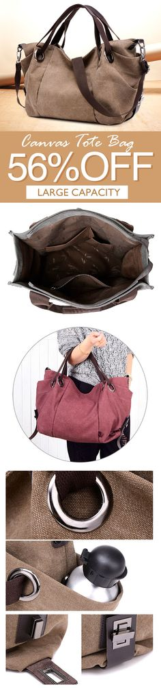 I love those fashionable and beautiful bags from banggood.com. Find the most suitable and casual bags at incredibly low prices here.#bag#sale Travel Handbags, Fashion Handbags, Backpack Purse, Crossbody Bag, Purses And Bags, Women's Bags, Vintage Canvas, Casual Bags, Handbags Online