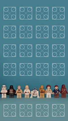 Star Wars Lego Characters iPhone 5 icon frame wallpaper