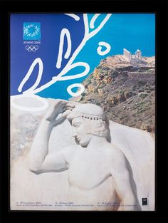 Athens, Greece Summer Olympics Poster in the style of Classical Greek art 2004 Olympics, Summer Olympics, Summer Games, Winter Games, Volleyball Posters, Sports Posters, History Of Olympics, Greek Art, Greece