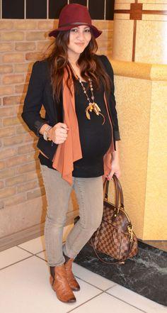 sweet escape: Maternity Fashion : Winter Boho