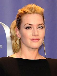Kate Winslet – teased front roots with a high ponytail.