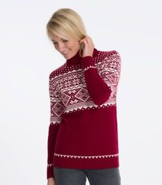 Lambswool Fair Isle Polo neck Jumper for Men and Women