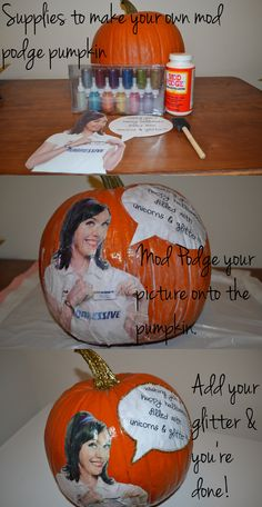 How to make a mod-podge pumpkin