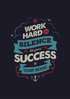 """""""WORK HARD"""" by snevi in Typography"""