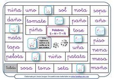 Juego de la Oca para reforzar la lectura de palabras con la S, N, T, Ñ, P, L, M