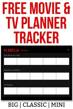 Netflix Bullet Journal. Download this free movie and TV tracker. It's the perfect planner printable to track the movies and TV you want to see or have seen. #bulletjournal #bujo #netflix Tv Planner, Free Planner, Happy Planner, Printable Planner, Planner Ideas, Bullet Journal Netflix, Bullet Journals, Tracks Movie, Netflix Recommendations