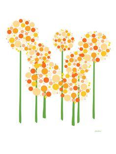 Orange Alliums Print