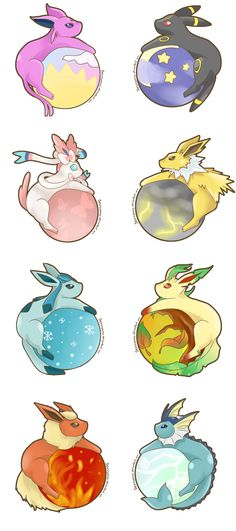 Drawn by SeviYummy ...   espeon, umbreon, sylveon, jolteon, glaceon, leafeon, flareon, vaporeon, pokemon