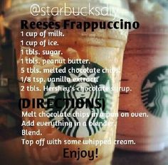 Save money by making this Copy Cat Starbucks Frappuccino Recipe at home! So easy to make and a great coffee treat! Healthy Starbucks Drinks, Starbucks Secret Menu Drinks, Yummy Drinks, Homemade Starbucks Recipes, Starbucks Frappuccino, Starbucks Coffee, Vanilla Caramel Frappuccino Recipe, Diy Starbucks Drink, Iced Coffee