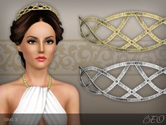 Forged metallic headband for The Sims 3 by BEO