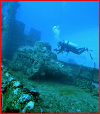 Chuuk Lagoon (or Truk Lagoon)- Lots of shipwrecks and airplane wrecks from WWII. Challenging depths.