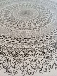 Mandala in ink #mandala